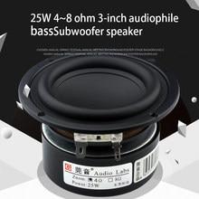 25W 3 Inch Bass Speaker 4~8 Ohm 3 Inch Subwoofer Speaker Fever Grade Speaker Amplifier Speaker Diy Audio Home Woofer