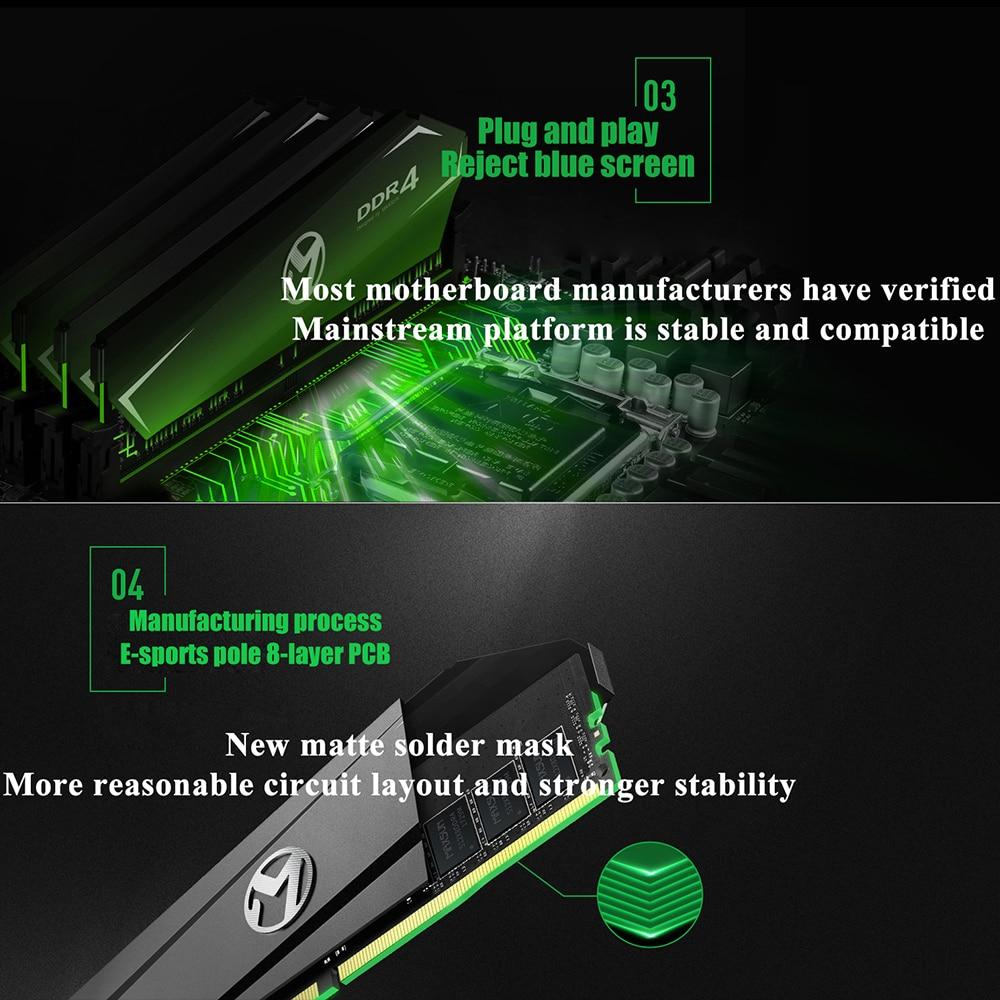 MAXSUN Ram DDR4 4GB 8GB 16GB Memory 2666MHz Lifetime Warranty Single Memoria Rams DDR4 1.2V 288Pin Interface Type  Desktop dimm 3