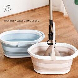 Składane wiadro mopa składane przenośne mycie umywalki z uchwytem na zewnątrz BJStore