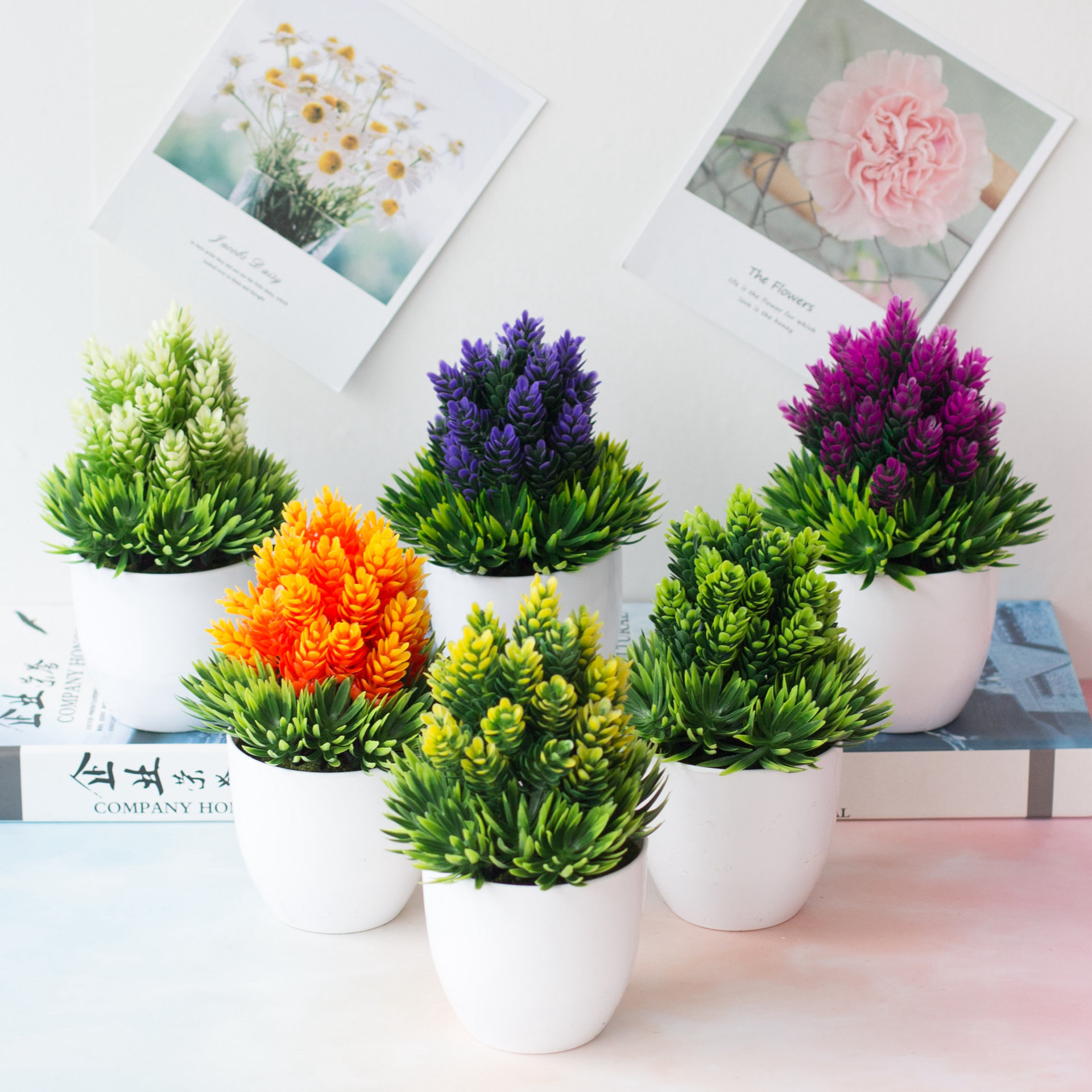 Artificial Simulation Tree Potted Bonsai Flowers Tree Pot Fake Potted Plant Office Home Table Ornaments Home Decor Garden Suppli