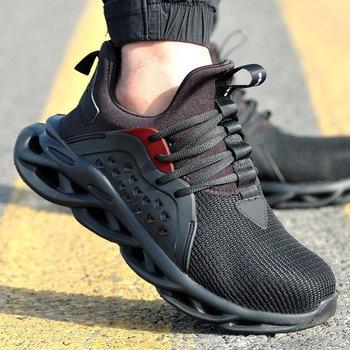 Рабочая обувь для мужчин; Летние дышащие ботинки; Рабочая обувь со стальным носком; Противоразбивающая конструкция; Безопасные рабочие кро...