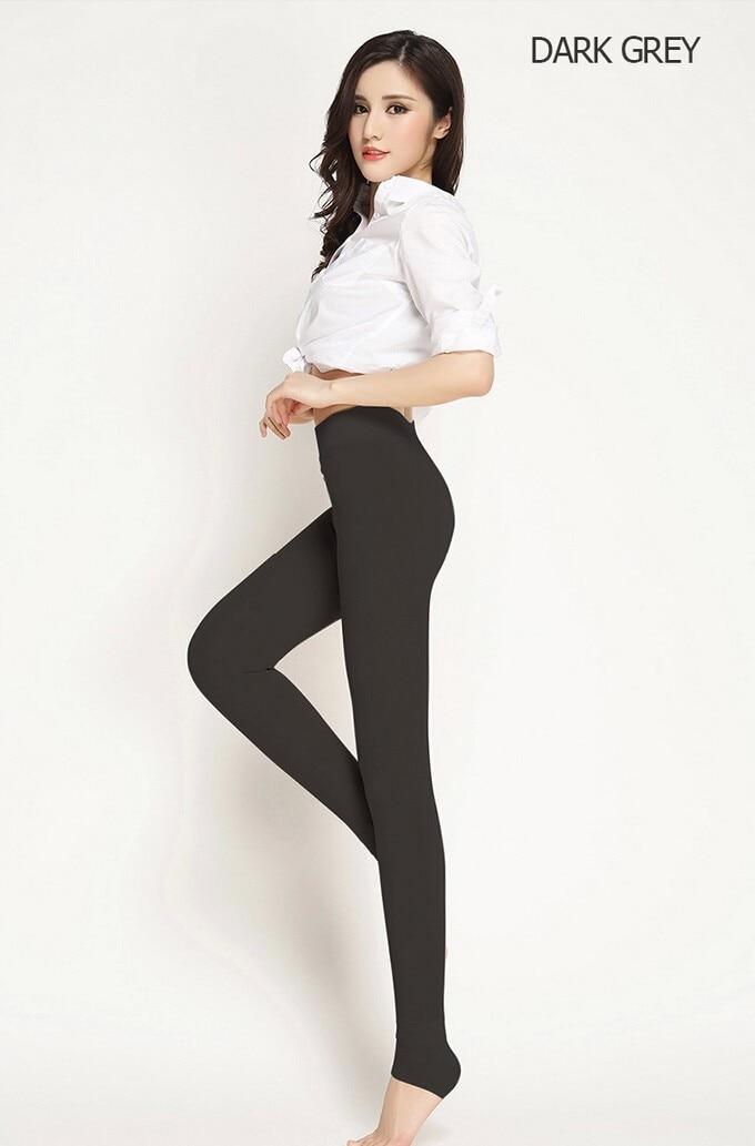 Hf7f5ededc9db4c1ab5ffc14260c9e6c7Q CHRLEISURE Warm Women's Plus Velvet Winter Leggings Ankle-Length Keep Warm Solid Pants High Waist Large Size Women Leggings