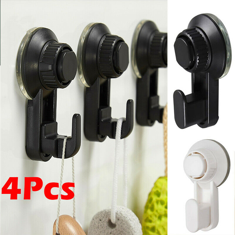 Strong Vacuum Suction Cup Hook Shower Holder Hooks For Bathroom Kitchen Towel Multi-Purpose Hooks