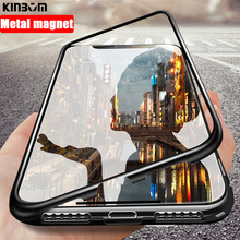 KINBOM 360 smart case For xiaomi redmi note 7  mi 8 lite 9 Magnetic Adsorption cover for Glass protect