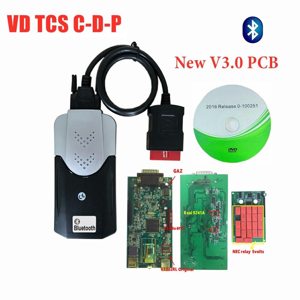 2019 New Design Vd Ds150e C-d-p With Bluetooth Best V3.0 Pcb 2016.R0 Keygen For Delphis OBD2 Cars Trucks Scanner For Autocoms