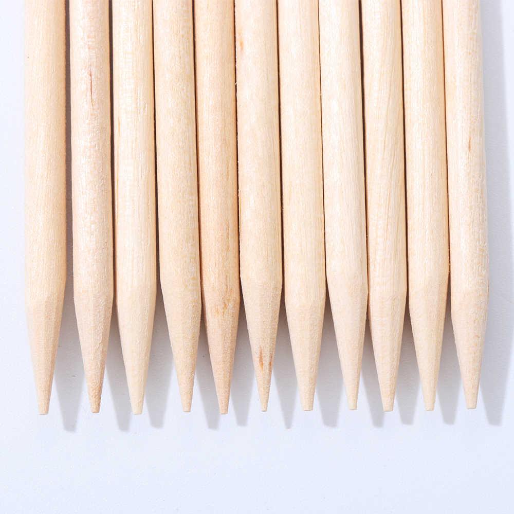 10/30/50 Stuks Oranje Houten Stokken Voor Cuticle Pusher Cuticle Verwijder Tool Vorken Voor Nagels Manicure Gereedschap pedicure Pusher Verwijder