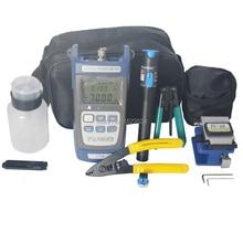12 Stks/set Ftth Glasvezel Tool Kit Met Fiber Cleaver  70 ~ + 10dBm Optische Power Meter Visual Fault lcator 5Km