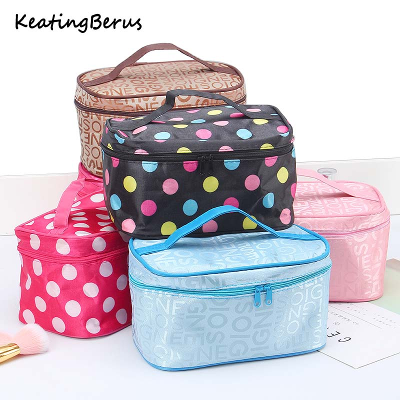 Women Make Up Bag Fashion Letter Cosmetic Bag Organizer Square Travel Handbag Toiletry Organizer Solid High Capacity Bags Girls
