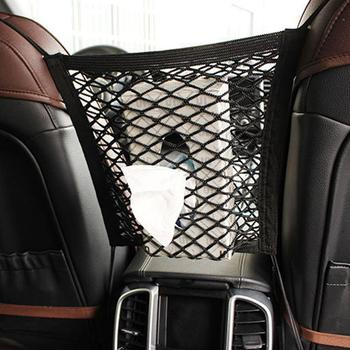 Universal Car Rear Trunk Boot Organizer Pocket Cargo Net Mesh Storage Car Receive Arrange Net Car Trunk Net  Auto Accessories image