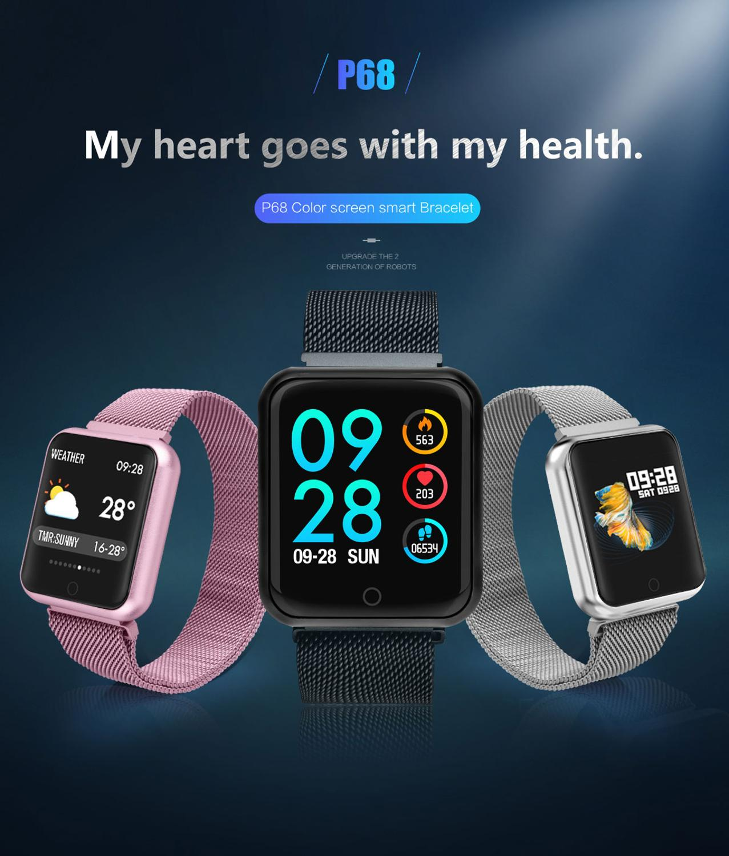 Smart Bracelet Pedometer Blood-Pressure-Monitoring Heart-Rate Sport-Mode Bluetooth Waterproof