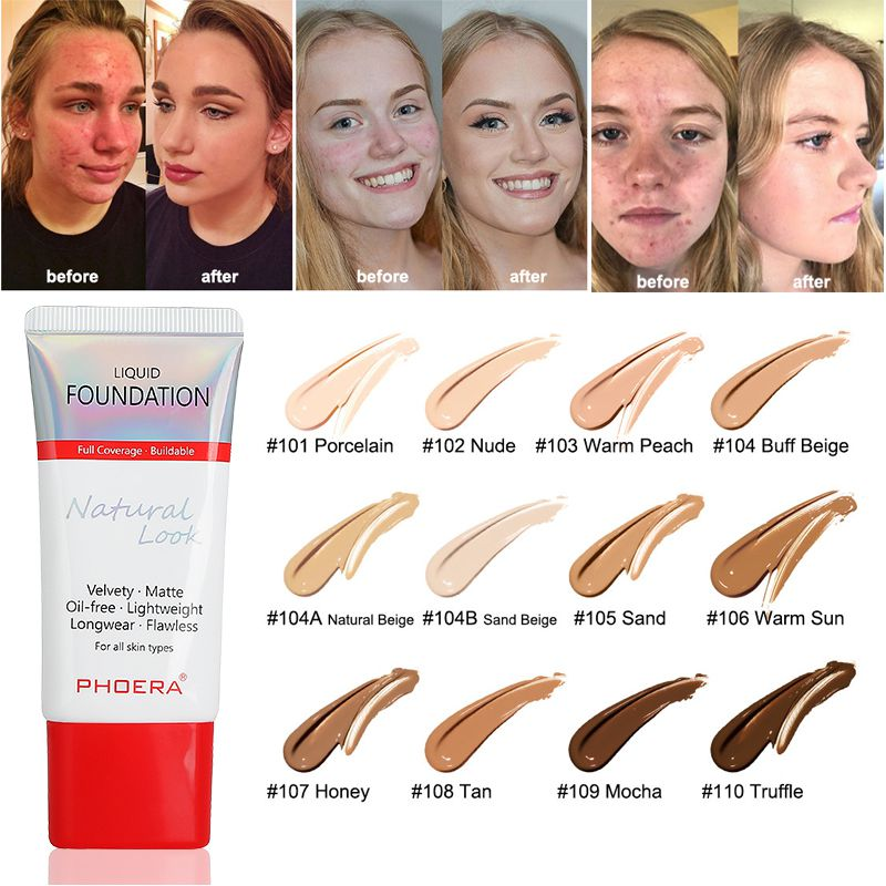 30ml 24 Hour Lasting Foundation Cream Mineral Touch Oil Control Skin-Friendly Liquid Foundation Makeup Full Coverage image