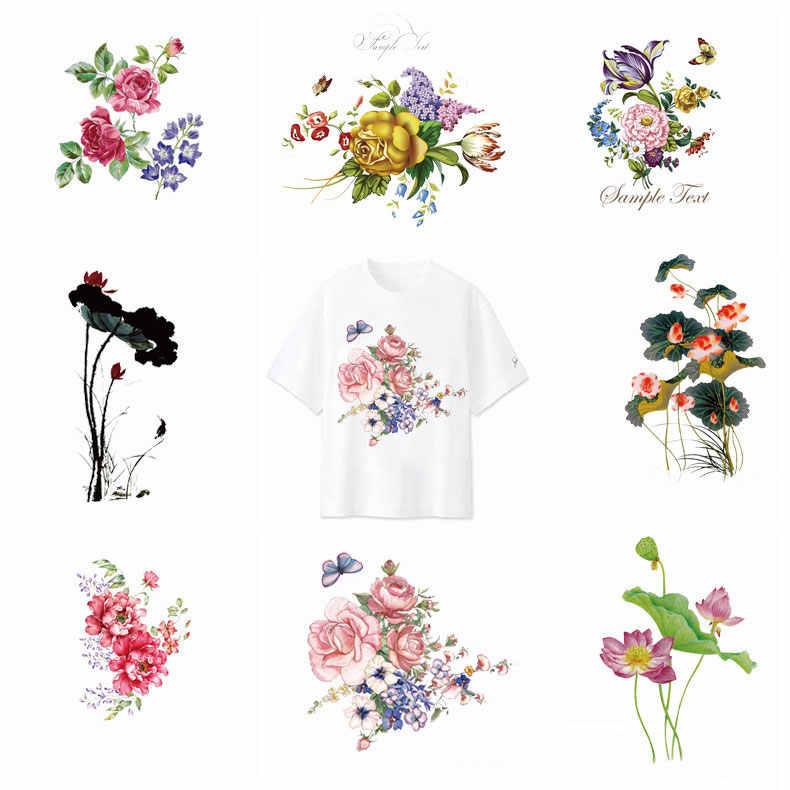 Ijzer Op Transfer Patches Kleurrijke Bloemen Warmte-Afdichting Patch Jongen Meisje Kleding Stickers Streep T-shirt Sticker Diy Applique Nieuwe F
