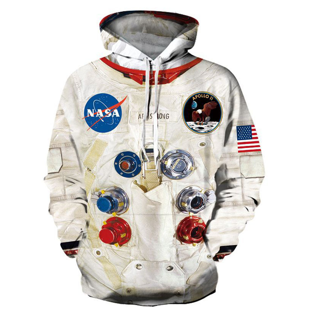 3D Print Armstrong Spacesuit Hoodies Men/Women Casual Astronaut Spacesuit Unisex Sweatshirts Streetwear Clothes Oversized Tops