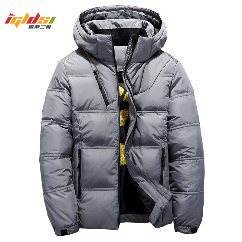 Men's Winter Hooded Duck Down Jackets Warm Thick Top Quality Down Coats Male Winter Overcoat Down Parkas Man Puffer Jackets