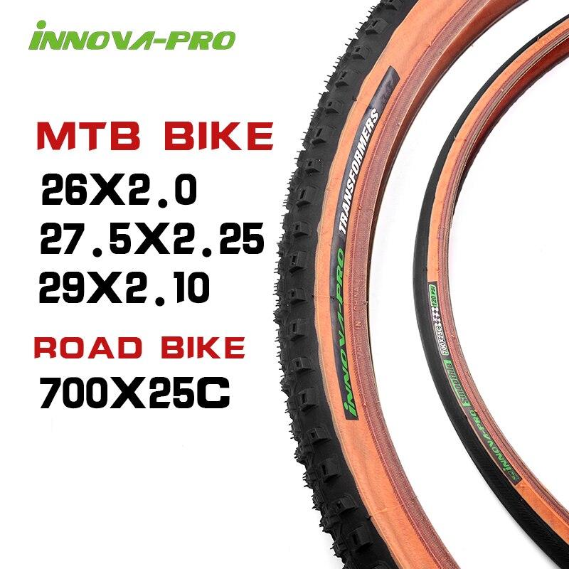 INNOVA горные велосипедные шины 26 27,5 29x2,1/2,25 дюймов анти-прокол шины Сверхлегкий дорожный велосипед шины 700 * 25C велосипедные шины