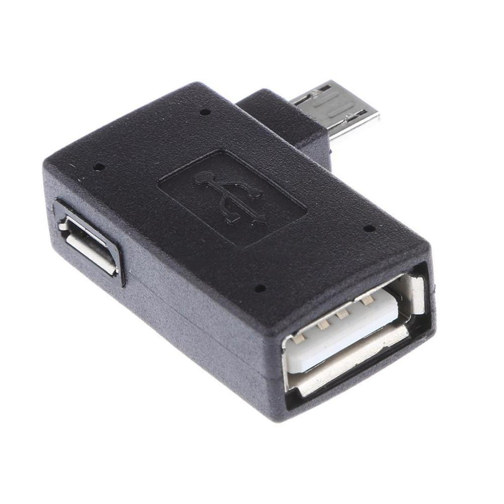 1PC Mutlifunction USB 2.0 90 Degree Left/Right Angle Convertor OTG Adapter Host Micro For Phone/tablet