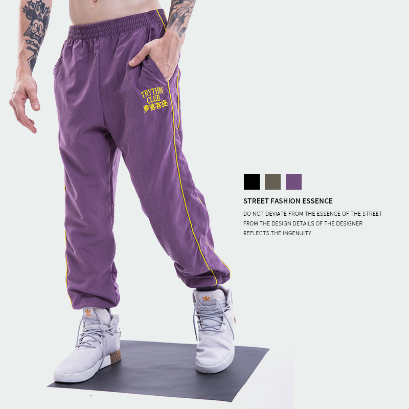 2018 Europe And America Popular Brand Summer New Style Men'S Wear Dream Fall Bodhi Embroidered Men's Casual Skinny Capri Pants