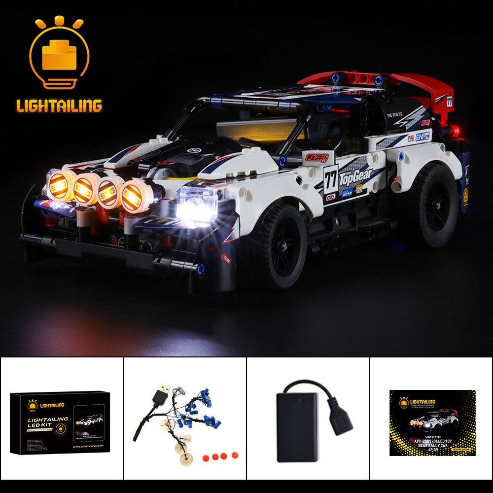 Lightailing led kit de luz para 42109 série técnica app-controlado engrenagem superior carro de rali brinquedos blocos de construção conjunto de iluminação