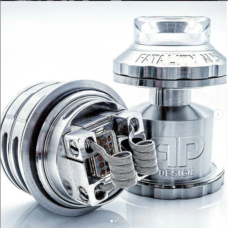 QP Design Fatality M25 RTA 25mm Diameter Rebuildable Atomizers 316 Stainless Steel 510 Threads Multiple Coil Configuration