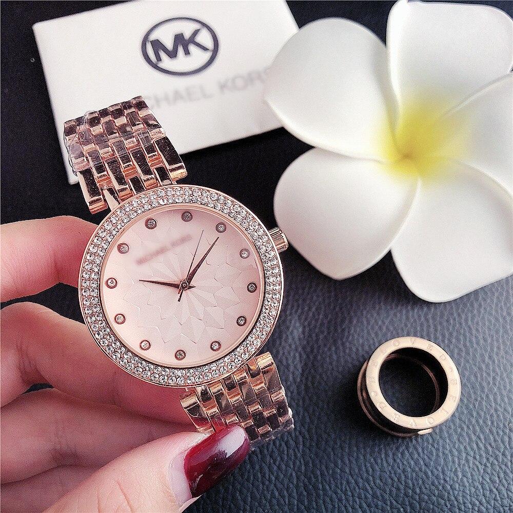 2020 New Diamond Gold Women's Watches Fashion Simple Ladies Watch Quartz Wrist Watch Women Stainless Steel Strap Female Clock