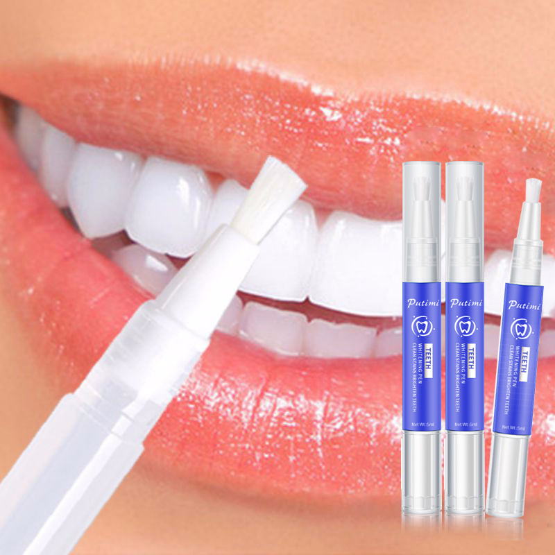 Putimi Teeth Whitening Pen Cleaning Serum Remove Plaque Stains Protect Oral Hygiene Care Gel Teeth Whitening Essence Toothpaste
