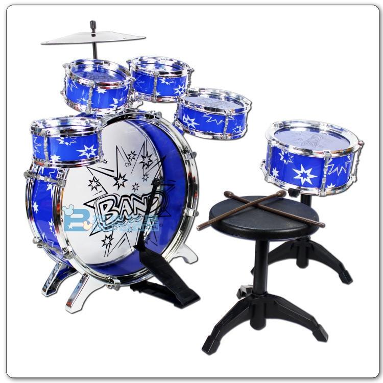 Douyin célébrité Style enfants Jazz tambour Kit avec tabouret modèle Instruments Intelligence jouets ensemble tambour Pat stalle vente chaude