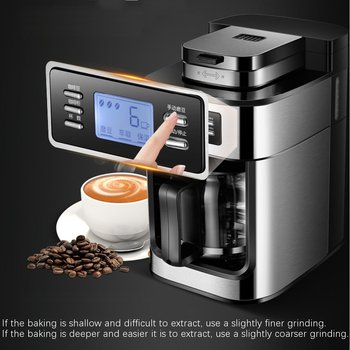 220V 1200ml Electric Coffee Maker Machine Household Fully-Automatic Drip Coffee Maker Tea Coffee Pot Kitchen Appliance 1000W 2