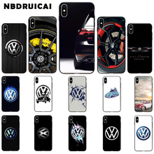 NBDRUICAI Cool Car Volkswagen TPU Soft Silicone Phone Case Cover