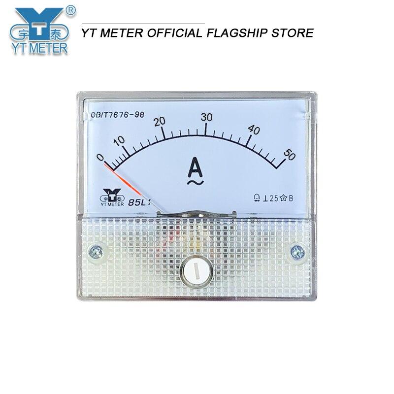 Ampèremètre à pointeur 85l1-a AC, ampèremètre Ma, 5mA, 10mA, 20a, 30a, 50A, connexion en série directe, instrument d'installation 56*64
