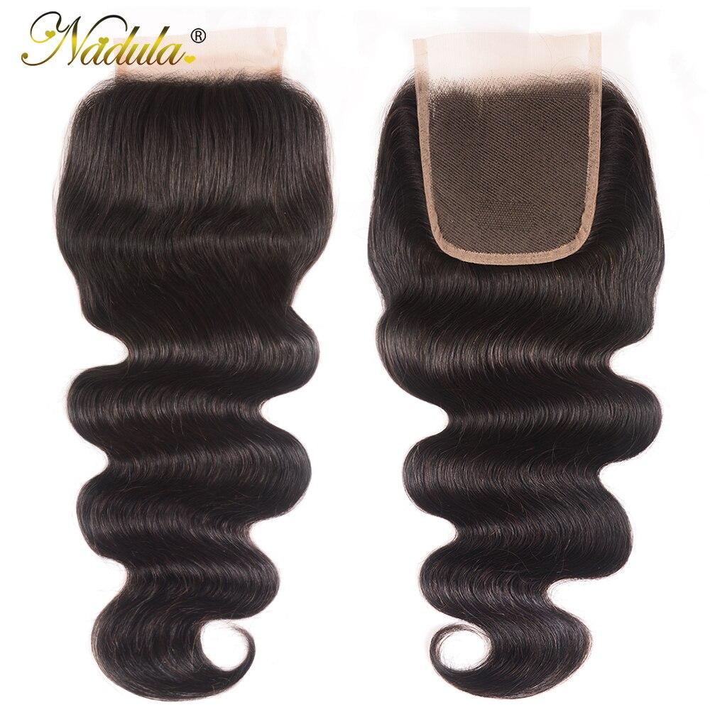 Nadula Hair HD Lace Closure Indian Body Wave Hair Closure 10-20inch  Swiss Lace Closure 1
