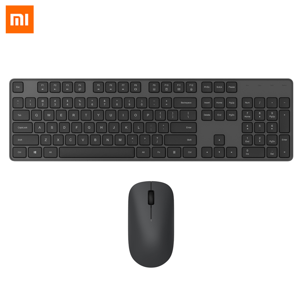 Xiaomi Wireless Keyboard & Mouse Set 2.4GHz Portable Multimedia Full-size Keyboard Mouse Combo Notebook Laptop For Office Home