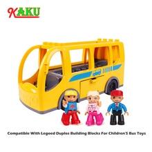 Gran tamaño de ladrillo juguetes grandes bloques - bloques de construcción de grandes autobuses modelo Compatible con Duploed modelos de vehículo bloques de juego para niños y regalos de los niños