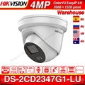 Hikvision ColorVu Original IP Kamera DS 2CD2347G1 LU 4MP Netzwerk Kugel POE IP Kamera H.265 CCTV Kamera Sd karte Slot EasyIP 4 0-in Überwachungskameras aus Sicherheit und Schutz bei