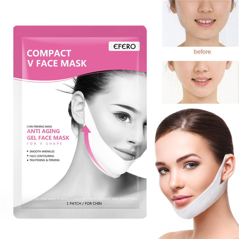 EFERO Lift Face Masks with Hanging Ear Type Thin Women Up V Line Skin Care Mask Slim Bandage Reduces Double Chin