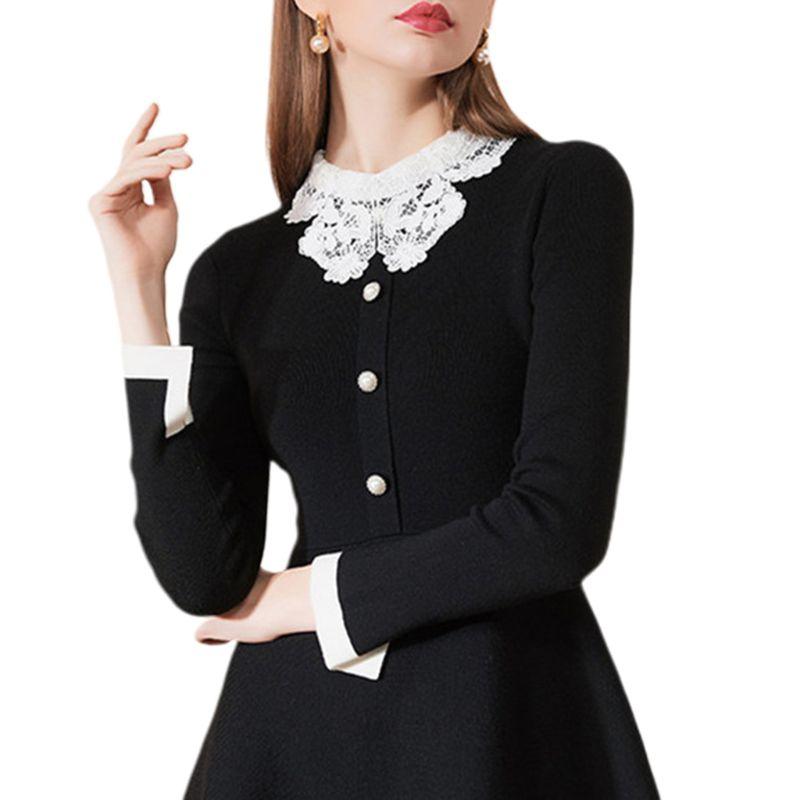 Women Girl Crochet Lace Patchwork Fake False Collar Button Down Detachable Half Shirt Blouse Dress Decorative Clothing Accessory