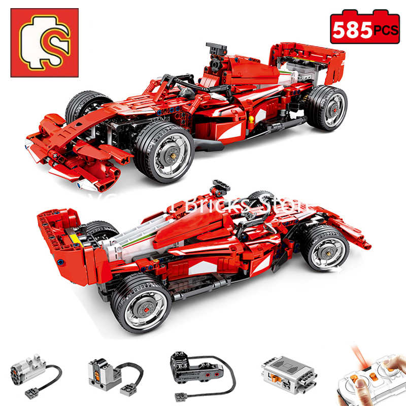 Sembo Block Constructor Fit Lego Technic City F1 Rc Super Sport Racing Car Power Motor Remote Control Vehicle Building Block Toy Aliexpress