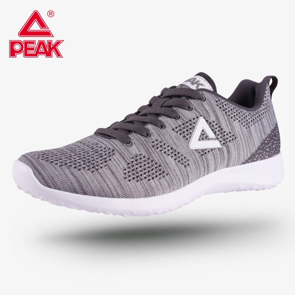 PEAK Running Shoes Fitness Tennis Shoes Breathable Textile Men's Sport Shoes Comfort Cushion Light Running Sneakers EW7231E