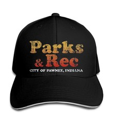 Parks and Rec Logo Baseball cap Distressed Retro Ron Swanson Leslie Knope Dark snapback hat Peaked(China)