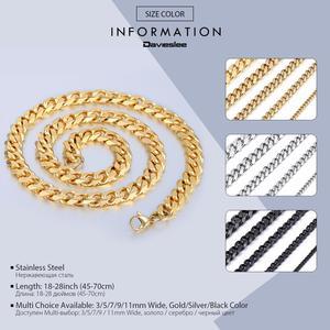 Image 3 - 3/5/7ミリメートルステンレス鋼のネックレス男性女性ゴールド黒シルバーカラーのネックレス縁石リンクチェーン男性ファッションジュエリーギフトLKN12