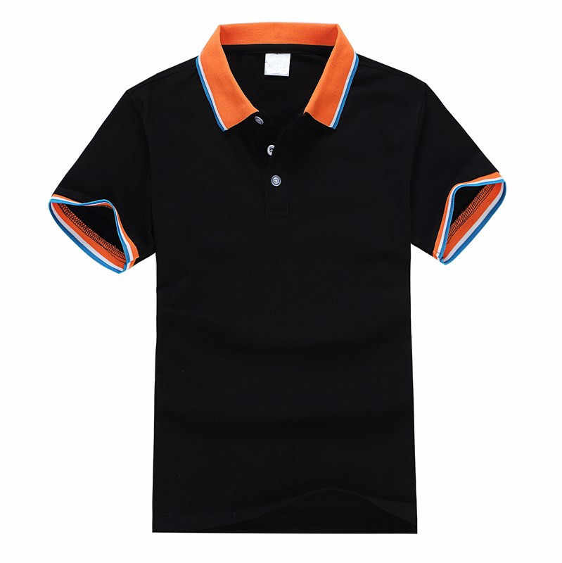 2019 Top Quality Summer Short Sleeve POLO Shirt Solid Color Business brand polo Shirts Casual poloshirts