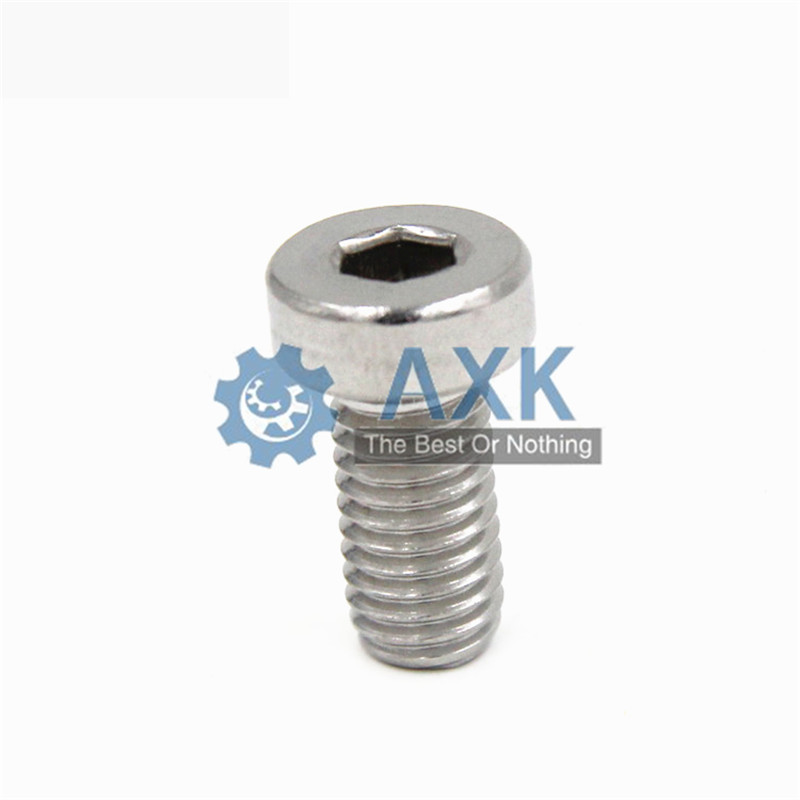 M3 M4 <font><b>M5</b></font> M6 304 A2-70 Stainless Steel Din7984 Hex Hexagon Socket Thin Low Short Profile Head Allen Cap Screw Bolt L=4-<font><b>40mm</b></font> image