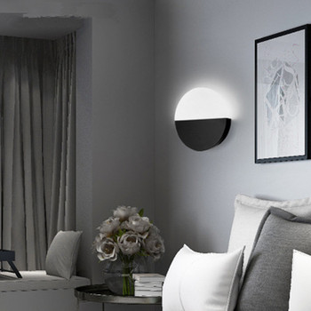 Nordic bedroom bedside lamp Sunset round led wall lamp living room background wall acrylic aisle wall lamp