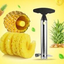 201 de aço inoxidável abacaxi slicer descascador frutas corer slicer cozinha fácil ferramenta abacaxi cortador espiral novo utensílio acessórios