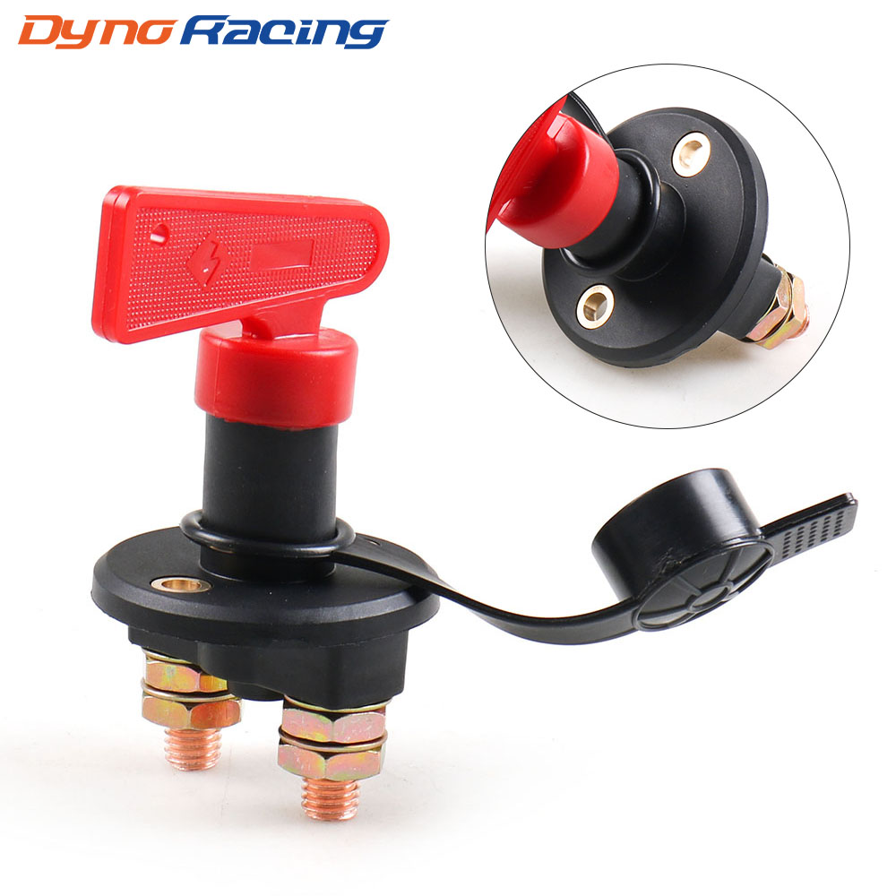 12V 24V Disconnect Battery Isolator Cut Off Kill Switch With Removable Key For Car Marine Truck Boat image
