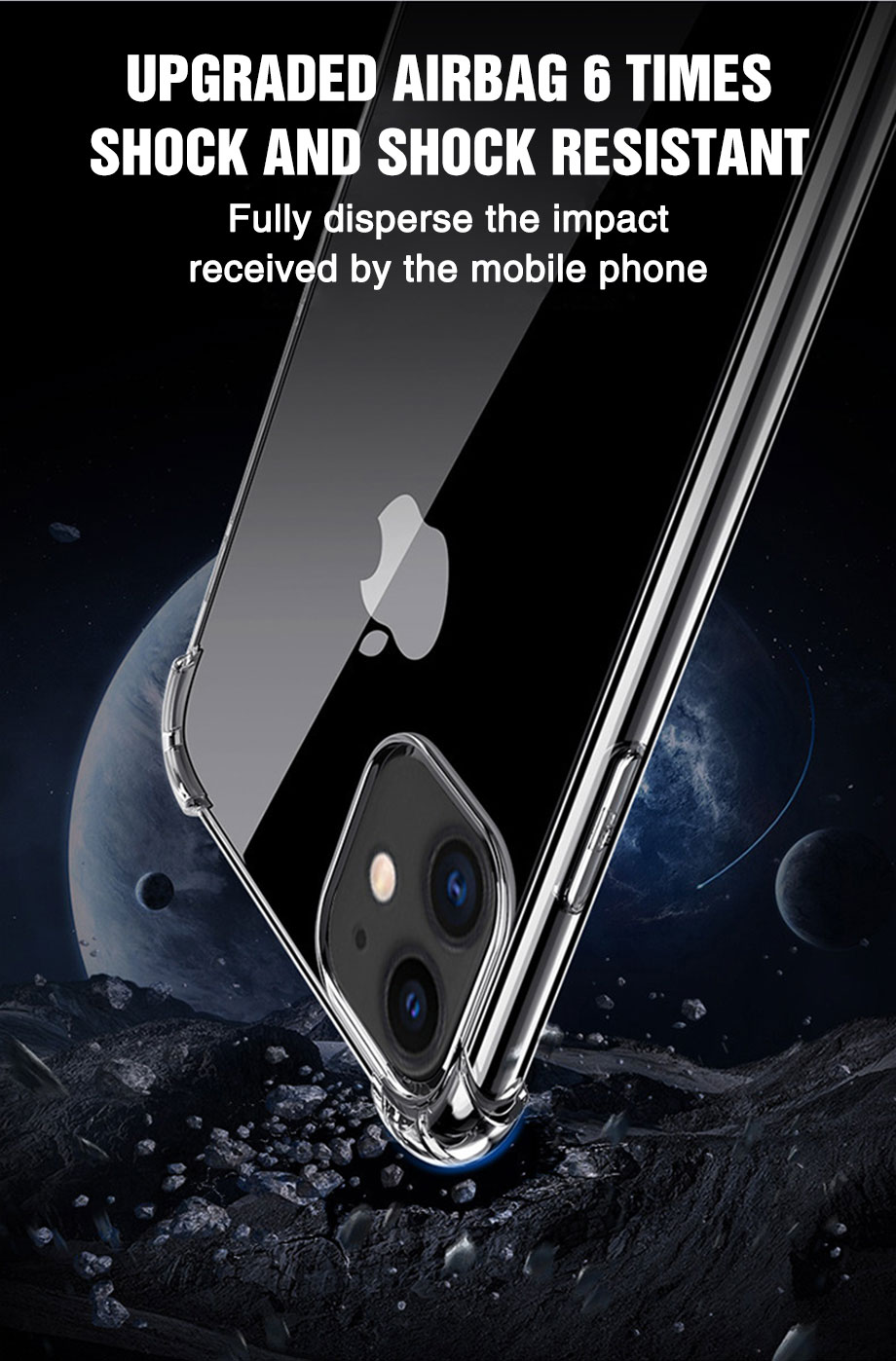 Transparent Shockproof Soft Silicone Case for iPhone 12 Pro Max 1