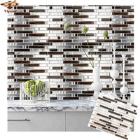3D Mosaic Self Adhesive Tile Backsplash Wall Sticker Vinyl  Decal Bathroom Kitchen Home Decor DIY