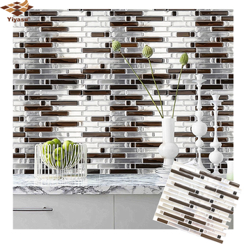 3D Mosaic Self Adhesive Tile Backsplash Wall Sticker Vinyl  Decal Bathroom Kitchen Home Decor DIY 1