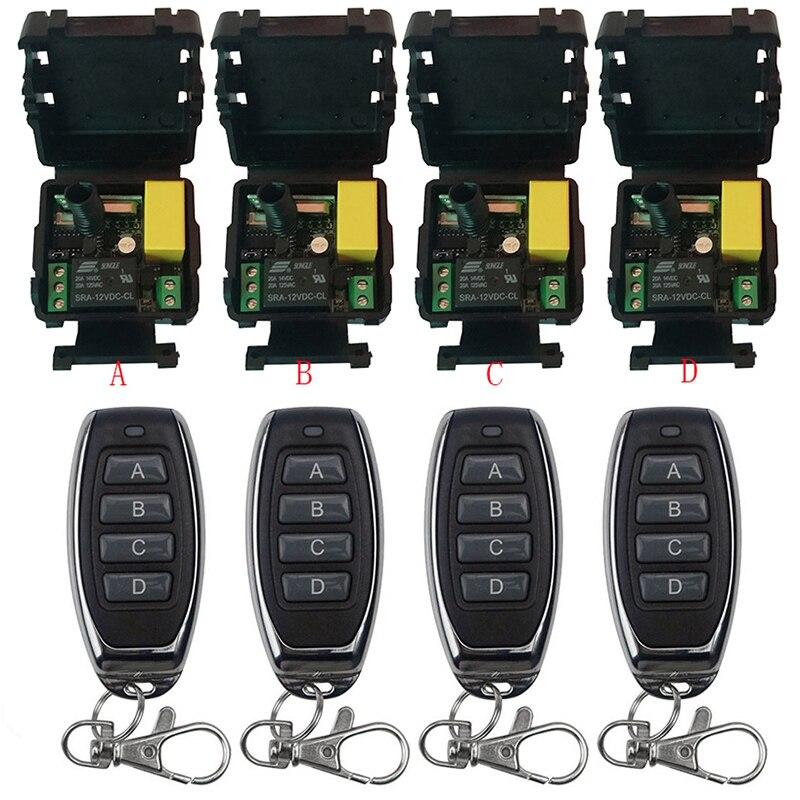 Télécommande universelle sans fil AC220V 1CH rf relais récepteur et émetteur à distance Garage/porte/moteur/lumière/appareil ménager