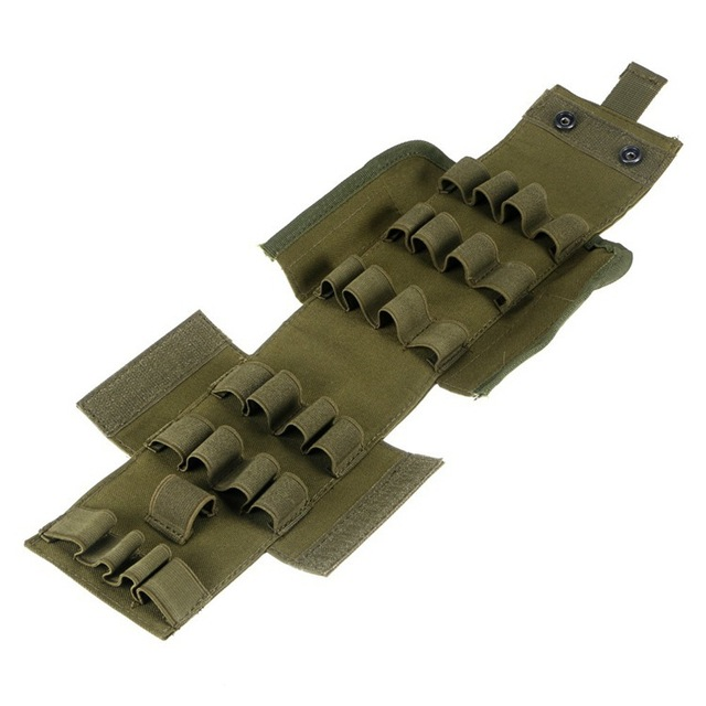 Tactical 25 Round Ammo Shell Pouch 12 Gauge Molle Waist Bag Shooting Gun Bullet Holder Rifle Cartridge Hunting Accessories 2