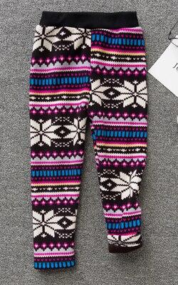 VEENIBEAR/осенне-зимние штаны для девочек, бархатные плотные теплые леггинсы для девочек, детские штаны, одежда для девочек на зиму, От 2 до 7 лет - Цвет: bajiaoxing